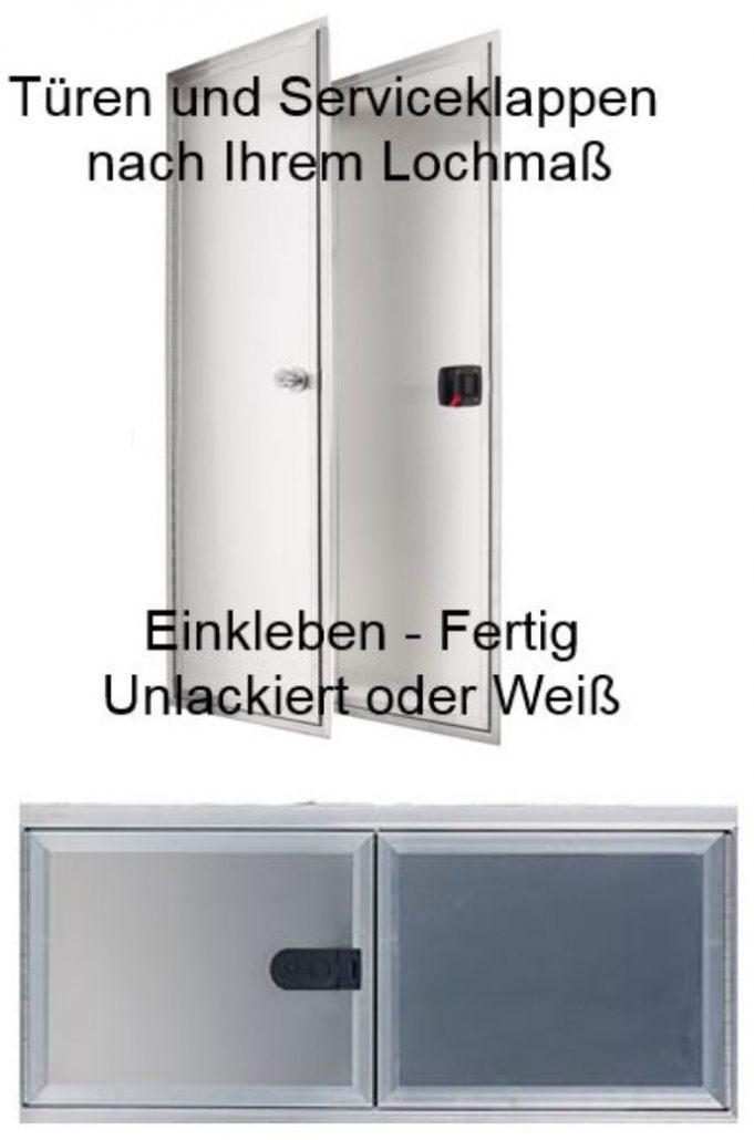 Serviceklappe und Türen nach Maß